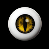 26mm - OMeta Half Round Acrylic Eyes(Yellow 09)