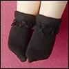 Dear Doll Size - Ponyo Ankle Socks (Black)