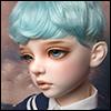 (13-14) Zeke Short Cut Wig (Blue)