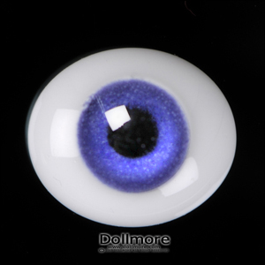 6mm Oval Flat Glass Eyes (Violet)