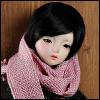 Model & MSD - Sace knit Muffler (L.Ravender)