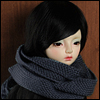 Model & MSD - Sace knit Muffler (B.Grey)