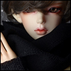 Model & MSD - Woollen Muffler (M - Black)