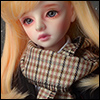 Model & MSD - Check Woollen Muffler (P - Brown)