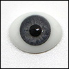 14mm Glass Eyes (Oval / Real type Light Gray)