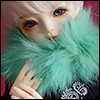 All Size - Rabbit Round Fur Muffler (Mint)