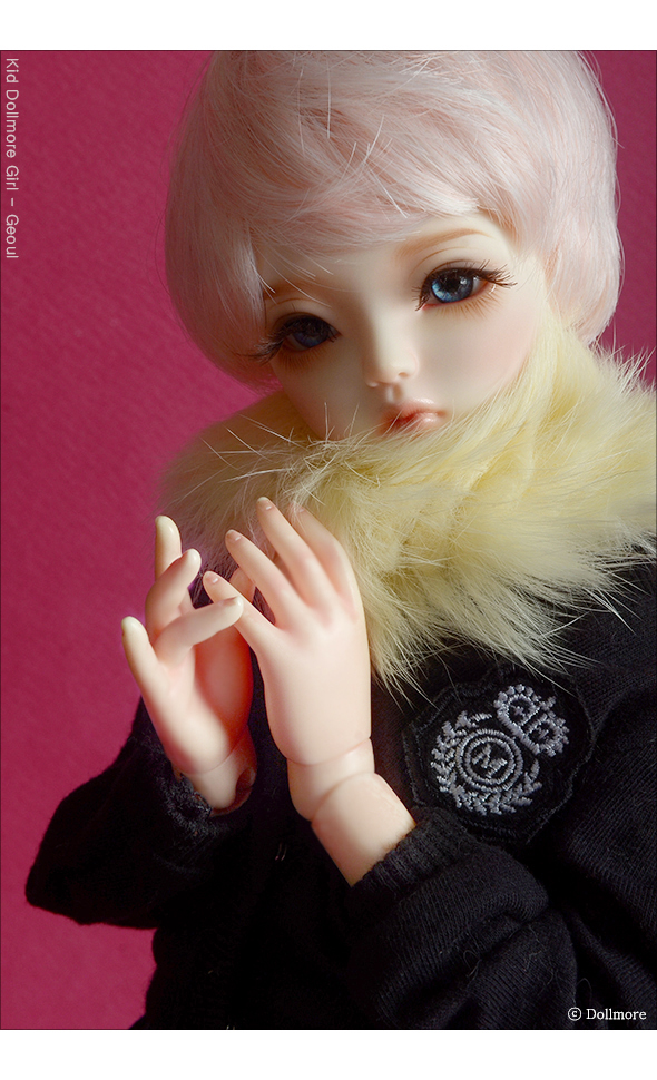 All Size - Rabbit Round Fur Muffler (L.Yellow)