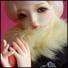 All Size - Rabbit Round Fur Muffler (L.Yellow)