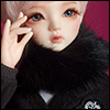 All Size - Rabbit Round Fur Muffler (Black)