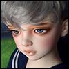 (13-14) Zeke Short Cut Wig (Gray)