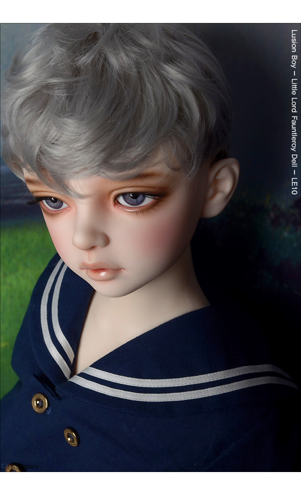 (13-14) Zeke Short Cut Wig (Gray)