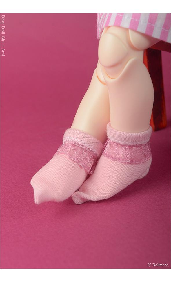 Dear Doll Size - Ponyo Ankle Socks (Pink)