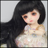 (5) Melrose Long Bang Wig (Black)