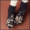 MSD Size - ARF Lace Socks (Black)