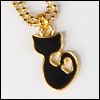 MSD & SD Size - Small Cat Necklace (Gold)