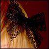 Lace Ribbon Pin (Black 01)