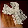 Lace Ribbon Pin (Ivory 03)