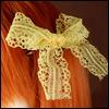 Lace Ribbon Pin (Yellow 05)