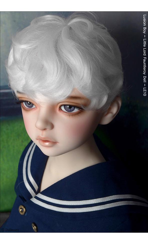 (13-14) Zeke Short Cut Wig (White)