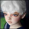 (13-14) Zeke Short Cut Wig (White)