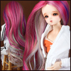 (선주문)(7-8) Arcane Long Wig (Wine)