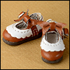 "12"" Len Ribbon Shoes (Brown)"