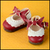 "12"" Len Ribbon Shoes (Red)"