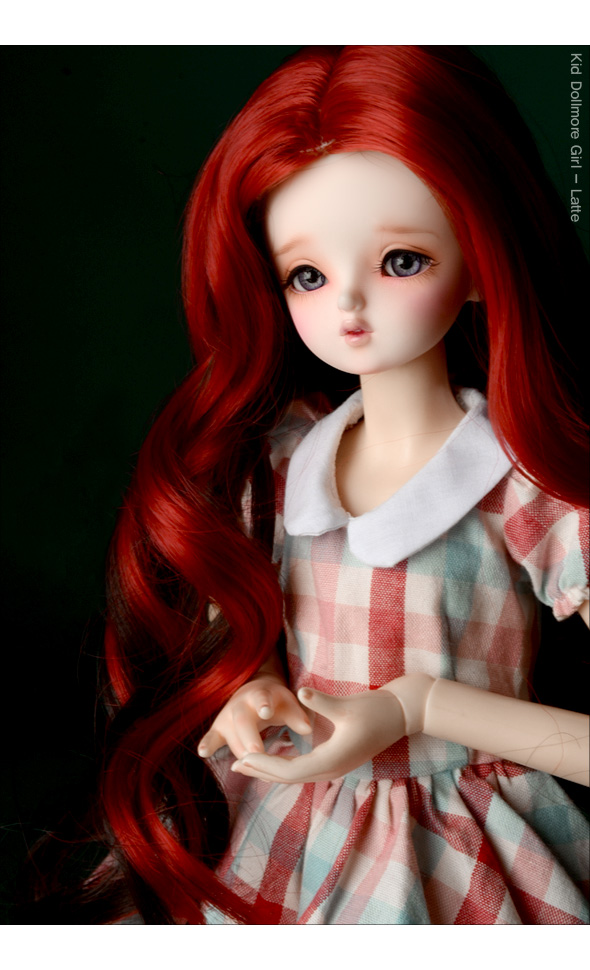 (7-8) Sat Two color long Wig (Red)