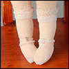 Bebe Doll Size - Aju Socks (Ivory)