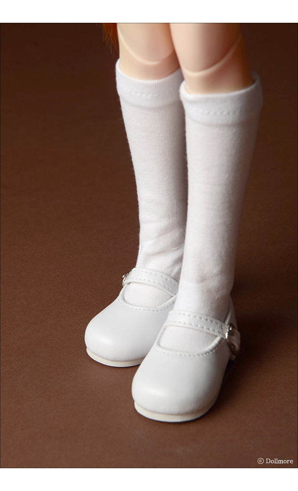 MSD - Macaron Mary Jane Shoes (White)