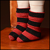Bebe Doll Size - Meme Socks (Stra Red)