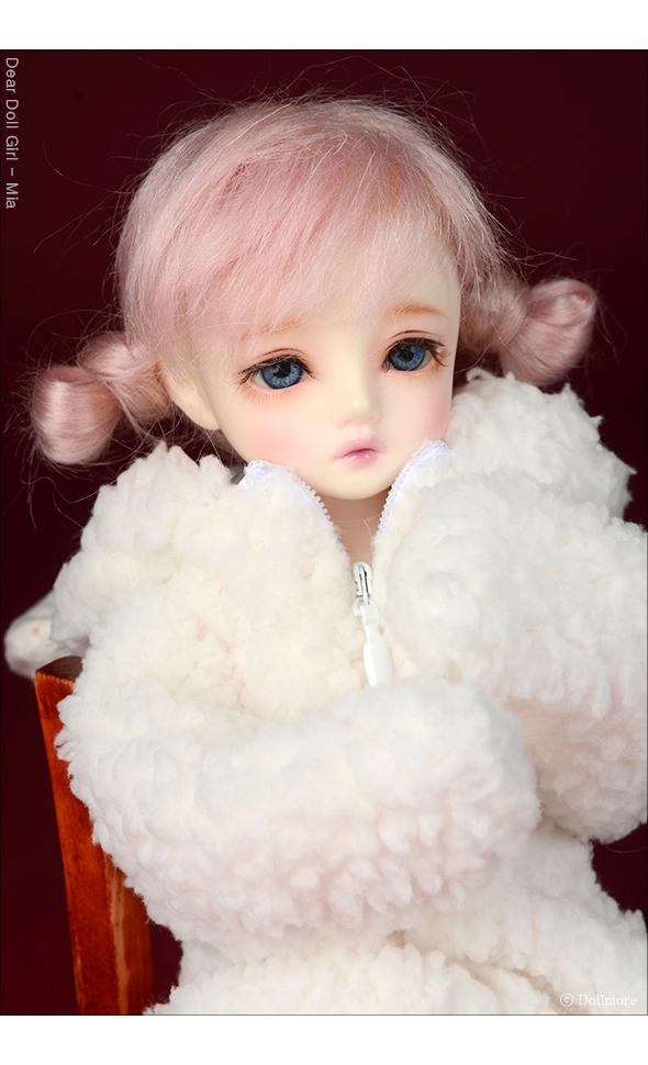 (6-7) Guyomi Mohair Wig (Pink)