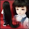 (6-7) Tangled Long Bang Wig (Black)