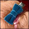 Velvet Tuxedo Ribbon Pin (Blue)