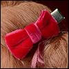 Velvet Tuxedo Ribbon Pin (D Pink)