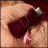 Velvet Tuxedo Ribbon Pin (Wine)