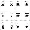 Dollmore's Eye Decale (아이데칼) - Dummy Comic Eye (정면)