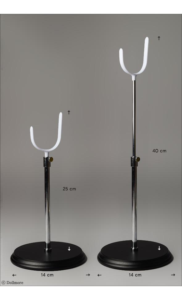 안장형 나무받침 돌스탠드 For 40cm~60cm Doll (Black & White)