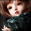 Model & MSD - Chrono Check Woollen Muffler (Green)