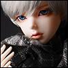 Model & MSD - Chrono Check Woollen Muffler (Gray)