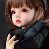 Model & MSD - Soft Check Woollen Long Muffler (Blue)