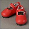 Dear Doll Size - Macaron Mary Jane Shoes (Red)