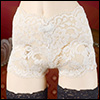 모델돌사이즈 - Lace trunk Panty (White)