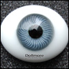 10mm Paperweight Glass Eyes-Oval Type (Gray)