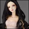 (8-9) Oenna Long Wig (Black)