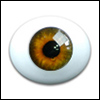 10mm Oval Real Type PaperWeight Glass Eyes - Hazel (Real Type)