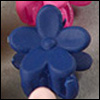 Mini Flower Pin (Navy)