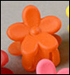 Mini Flower Pin (Orange)