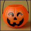 Small Size - Pumpkin Basket (호박 바구니 / Orange / Smile Eyes)