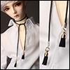 Long Line Tassel Necklace (Black)